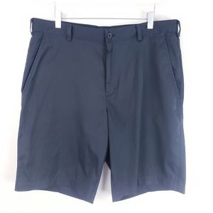 Nike Tech Flat Front Golf Shorts Black Size 34